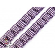 Rüschenband Karo*Purple