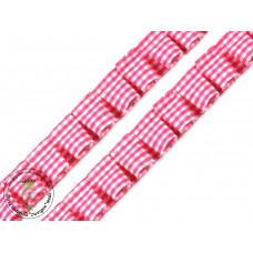 Rüschenband Karo*Pink