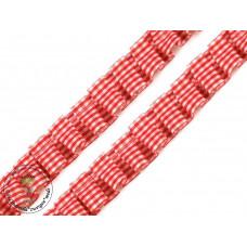 Rüschenband Karo*Rot