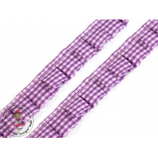 Rüschenband Karo*Lilac