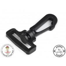 Karabiner aus Kunststoff black 2 Stück
