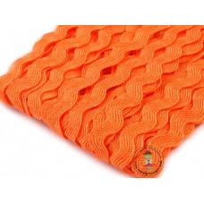 Zackenlitze Orange 9 mm