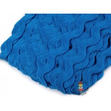 Zackenlitze Blau 9 mm