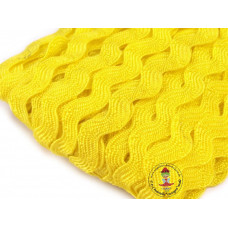 Zackenlitze Gelb 9 mm