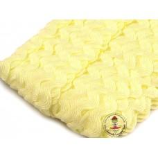 Zackenlitze Pastell Gelb 9 mm