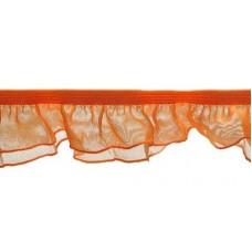 Organza Rüsche doppellagig orange*Wäschespitze