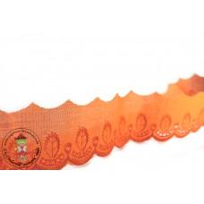 Retro * Wäschespitze 50 mm * Orange