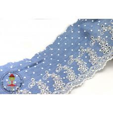 Chambray Wäschespitze Ranke*Dots hellblau