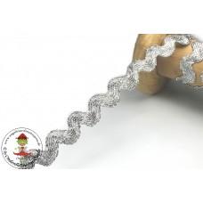 Lurex Zackenlitze Silber