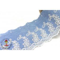Denim Wäschespitze Flowerranke hellblau