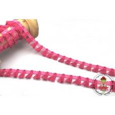 Mini Quastenborte Fuchsia*Pink