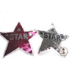 Pink Star*Wende Pailetten Patch
