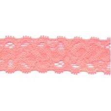 Elastische Spitzenborte*22 mm*Lachsrosa