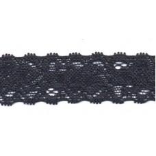 Elastische Spitzenborte*22 mm*Dunkelblau