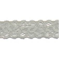 Elastische Spitzenborte*22 mm*Grau