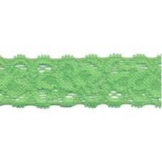 Elastische Spitzenborte*22 mm*Grün