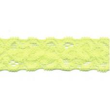 Elastische Spitzenborte*22 mm*Gelb