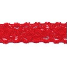 Elastische Spitzenborte*22 mm*Rot