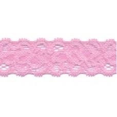 Elastische Spitzenborte*22 mm*Rosa