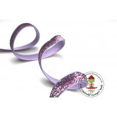Glitzerband Ombre Fuchsia*Silber