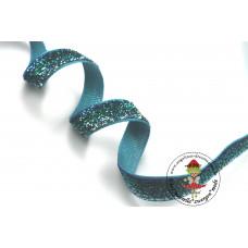 Glitzerband Ombre Kobalt*Grün