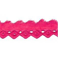 Wäschespitze Bordüre 25 mm* Raute*pink