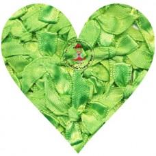 Mini Satin Schleife Grün, 5 Stück