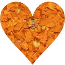 Mini Satin Schleife Orange, 5 Stück