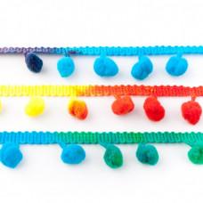 Pompomband Rainbow Multi