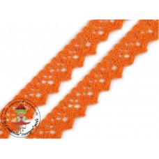 Klöppelspitze ZickZack Orange
