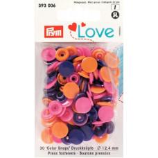 Prym Love Druckknopf 12,4mm orange/pink/violett