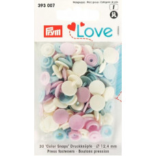 Prym Love Druckknopf 12,4mm rosa/hellblau/perle