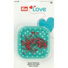 Prym Love Magnetnadelkissen + 9 g Glaskopf Nadel