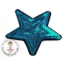 Stern Pailetten Patch*Aqua