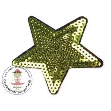 Stern Pailetten Patch*Lime