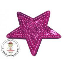 Stern Pailetten Patch*Pink