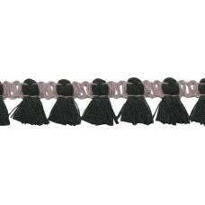 Mini Quastenborte Grau*Schwarz