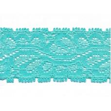 Elastische Spitzenborte*35 mm*Aqua