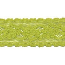 Elastische Spitzenborte*30 mm*Giftgrün