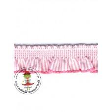 Rüsche*Stripes rosa