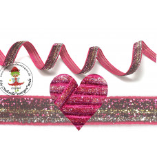 Glitzerband Ombre Pink*Gold*Silber