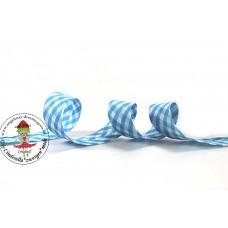 Karo Schrägband Blau