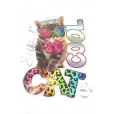 Super Cool Cat Bügelbild