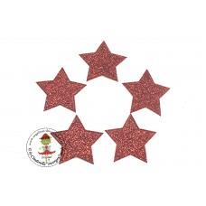 Glitzer Stern Rot