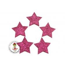 Glitzer Stern Pink