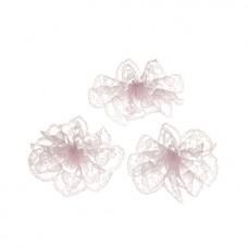 Spitzen*Rosette rosa