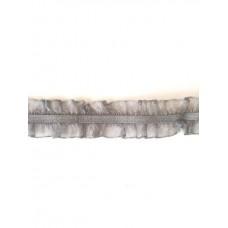 Organza Rüsche beidseitig grau*Wäschespitze