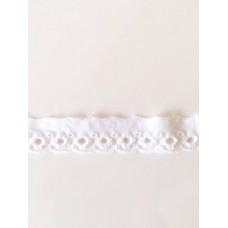 Wäschespitze Bordüre 20 mm*weiß*Baumwolle