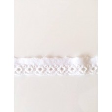 Bordüre 20 mm*weiß*Baumwolle
