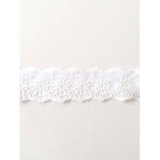 Wäschespitze Bordüre 45 mm*weiß*Baumwolle